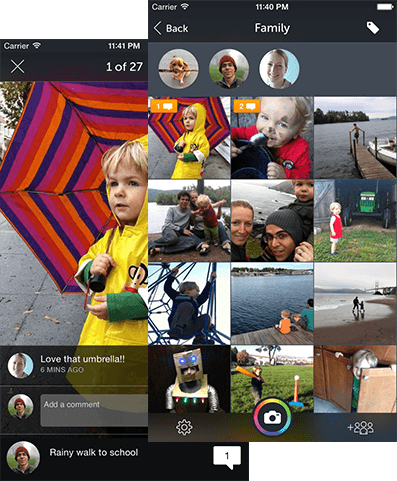 Photocircle for collecting photos from groups